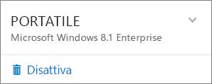 Screenshot della schermata di disattivazione dell'installazione di Office 365 Business
