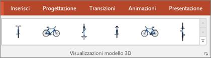 La raccolta Visualizzazioni modello 3D offre pratici modelli predefiniti che consentono di disporre la visualizzazione dell'immagine 3D