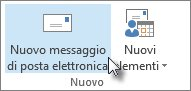 Fare clic su Nuovo messaggio di posta elettronica.