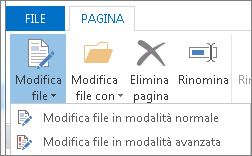 Pulsante Modifica file