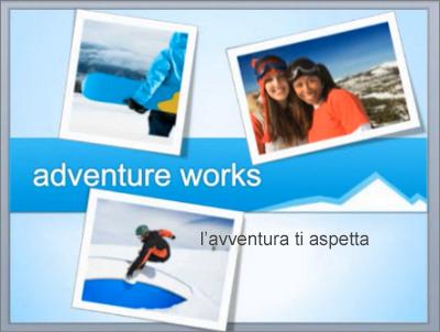 Diapositiva di esempio dopo il riordino di oggetti