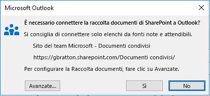 Connettersi a una raccolta documenti di SharePoint