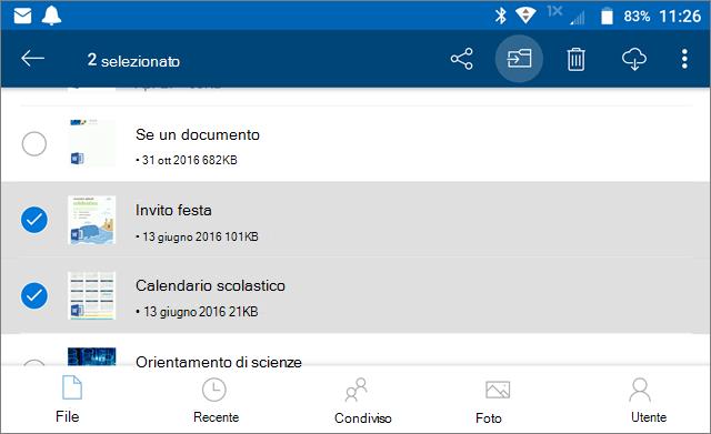 Spostare i file in OneDrive
