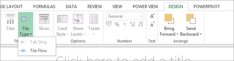 Sezione di Power View per elenco a discesa