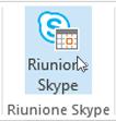 Pulsante Riunione Skype