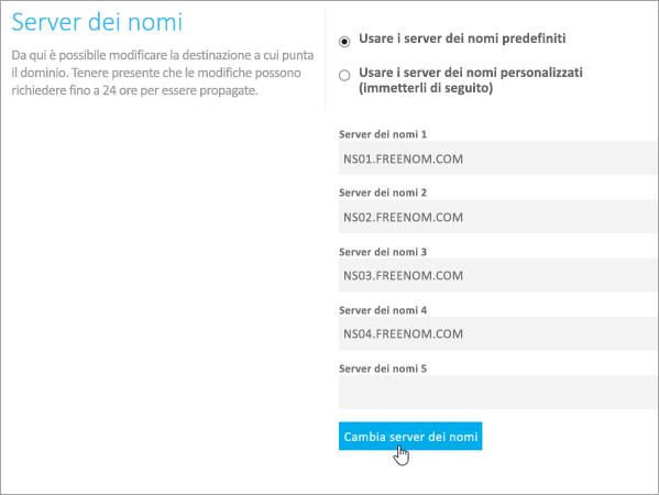 Freenom - Cambiare i server dei nomi_C3_20176171419