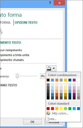 Colore riempimento