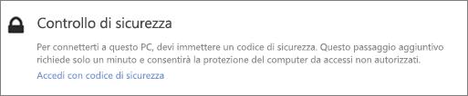 Esempio di notifica del codice di verifica dell'interfaccia utente per la richiesta di recupero di OneDrive