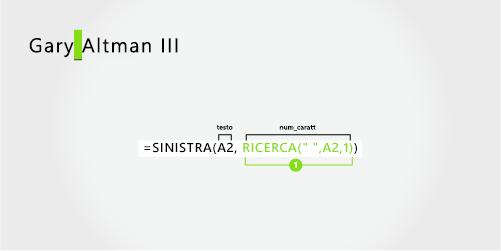 Formula per separare un nome e un cognome seguiti da un suffisso