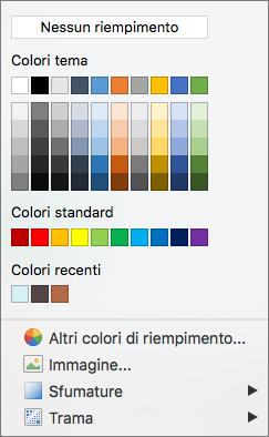 Opzioni Colore