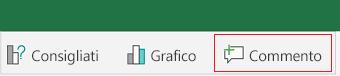 Aggiungere un commento in Excel per Android