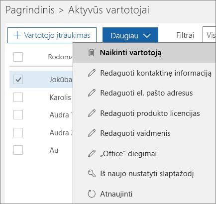 Eliminare un utente dall'interfaccia di amministrazione di Office 365.