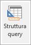Icona Struttura query sulla barra multifunzione