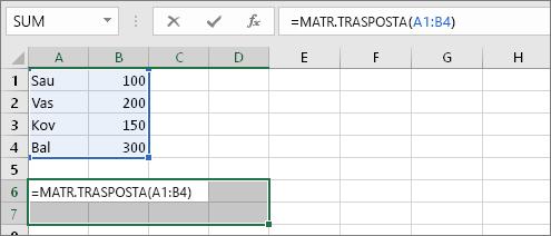 =MATR.TRASPOSTA(A1:B4)