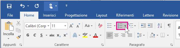 Icona Elenchi numerati