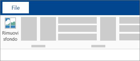 Icona Rimuovi sfondo sulla barra multifunzione