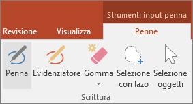 Pulsante Penna in Strumenti input penna in Office