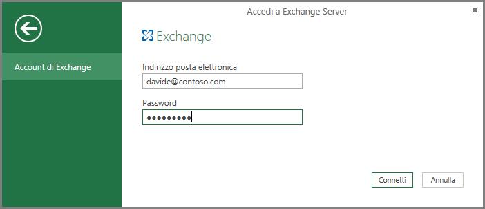 Credenziali di Exchange