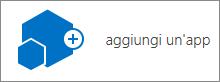 Icona Aggiungi un'app nella finestra di dialogo Contenuto del sito.
