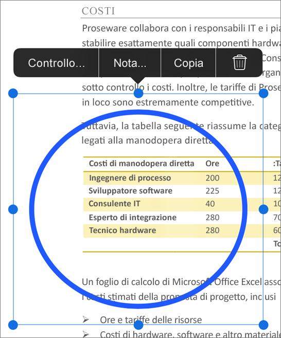 Modifica dei commenti PDF