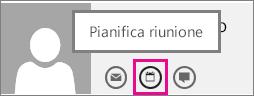 Pulsante per pianificare una riunione in Outlook Web App
