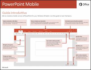 Guida introduttiva di PowerPoint Mobile