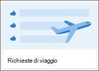 Modello elenco richieste di viaggio