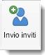 Icona Invita visualizzata nella scheda Organizzazione riunione.