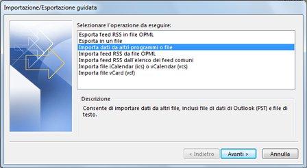 Esportare Calendario Outlook.Importare Posta Elettronica Contatti E Calendario Da Un