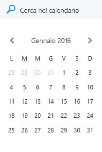 Casella di ricerca del Calendario