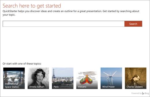 Quickstarter in PowerPoint