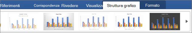 Fare clic sulla scheda Struttura grafico e quindi su uno stile di grafico