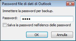 Outlook Data File Password dialog box