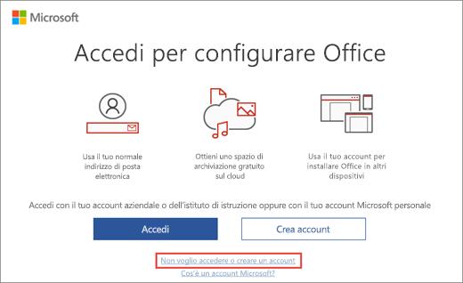 Mostra il collegamento selezionato per immettere il codice Product key del programma Microsoft HUP
