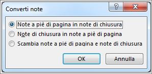 Casella Converti note