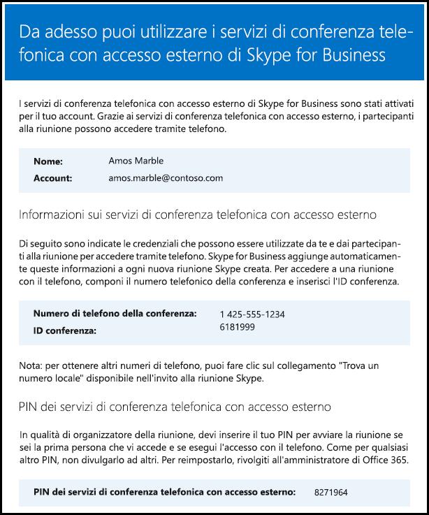Verifica della licenza Skype for Business