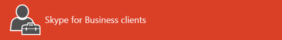 Pagina di destinazione delle risorse del client Skype for Business