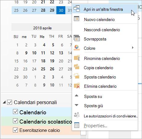 Fare clic su Apri in un'altra finestra nel menu di scelta rapida