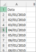 Colonna Data in Excel