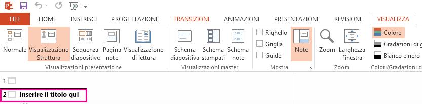 La diapositiva 2 ha un titolo.