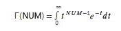 equazione GAMMA