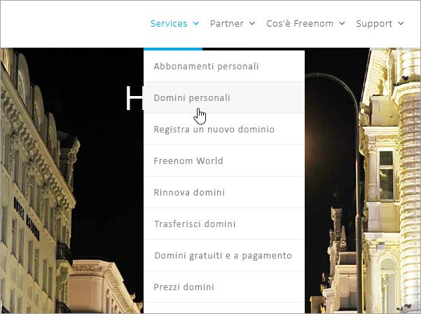 Freenom - Selezionare Services e My Domains_C3_2017530131524