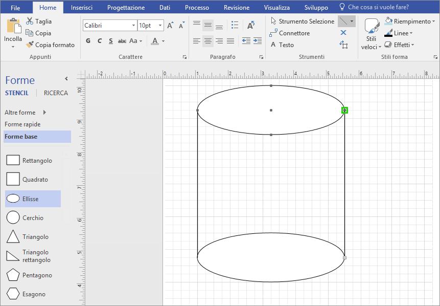 Disegnare manualmente le linee per completare la forma.