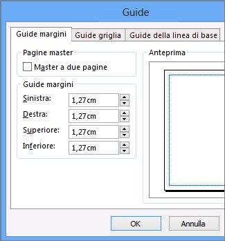Guide margini