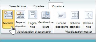 Visualizzazione della barra multifunzione con il pulsante normale selezionato