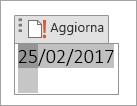 Modifica o aggiornamento di un campo data