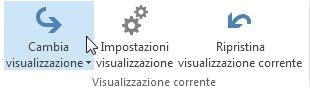 Comando Cambia visualizzazione sulla barra multifunzione