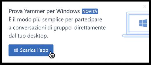 Messaggistica di Windows nel prodotto