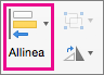 Allineamento in PowerPoint per Mac
