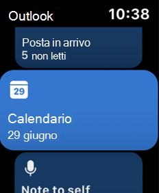 Visualizza schermata Apple Watch
